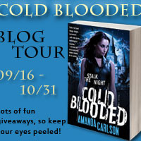 Blog Tour: Cold Blooded by Amanda Carlson {Author Q&A + Giveaway}
